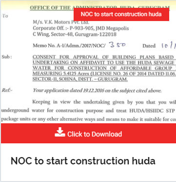 NOC to start construction huda